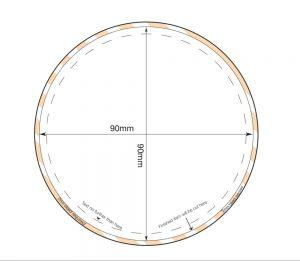 Circular Diecut Fridge Magnet - 90mm