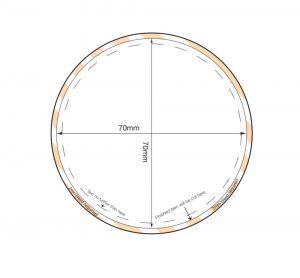 Circular Fridge Magnet 70mm